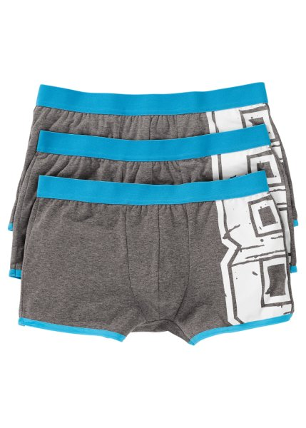 Pack of 3 number print boxers