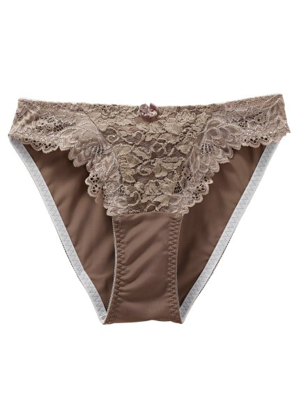 Taupe lace briefs