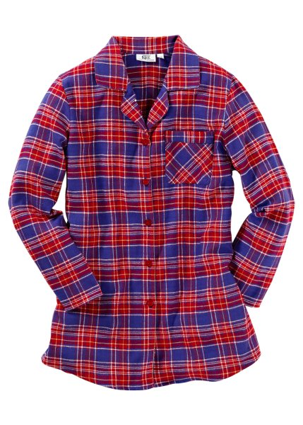 Checked flannel night shirt