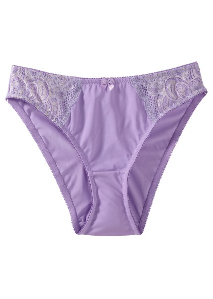Lilac lace side briefs